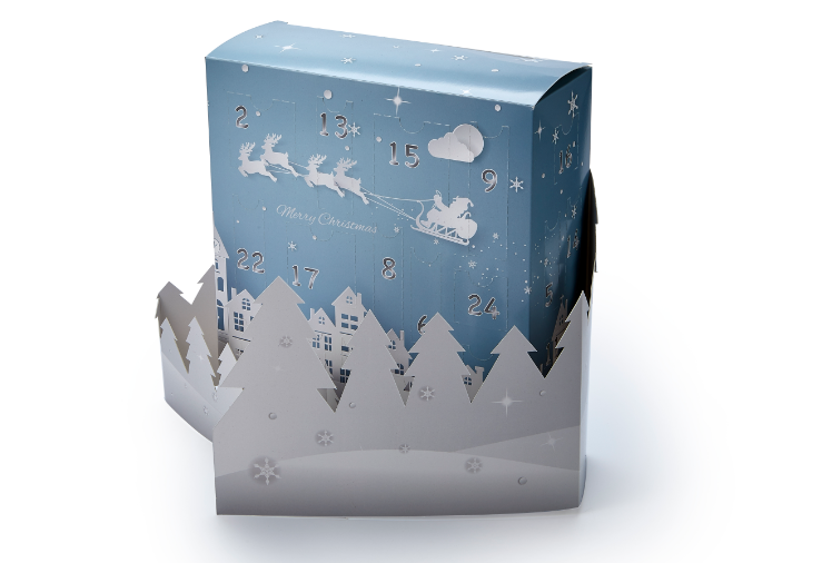 Good design paper box christmas gift box decorated paper box wholesale